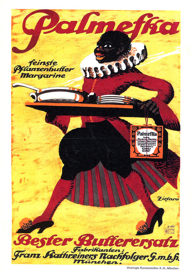 Palmefka - Finest Butter Margarine - Butter Replacement - Vintage Advertising Poster Mixed Media