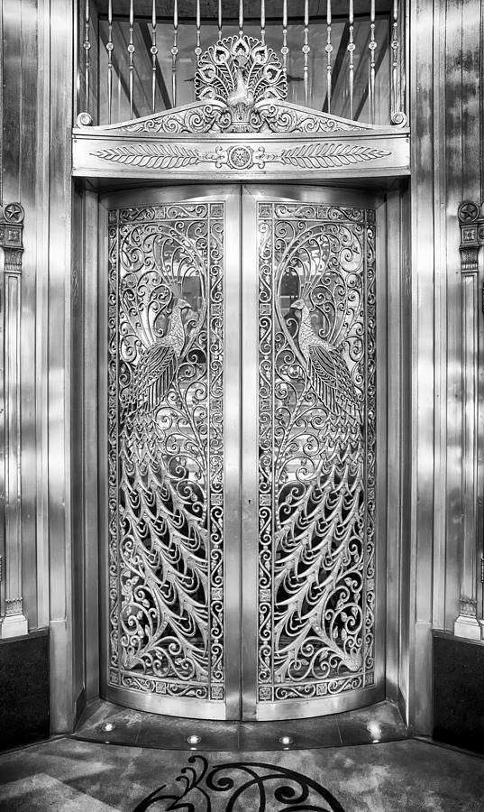 Peacock Photograph - Palmer Hotels Peacock Door by Howard Salmon