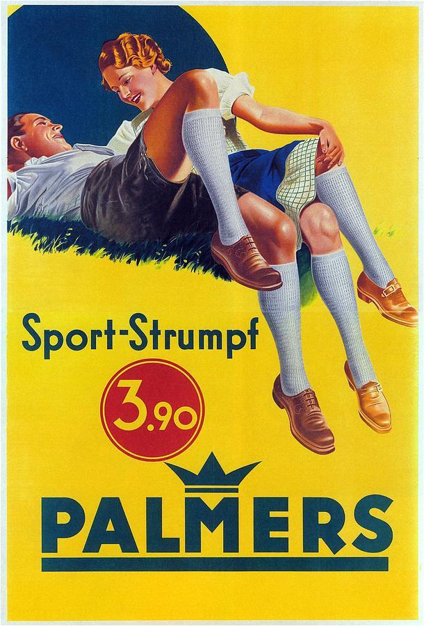 Palmers - Sports-strumpf - Vintage Germany Advertising Poster Mixed Media
