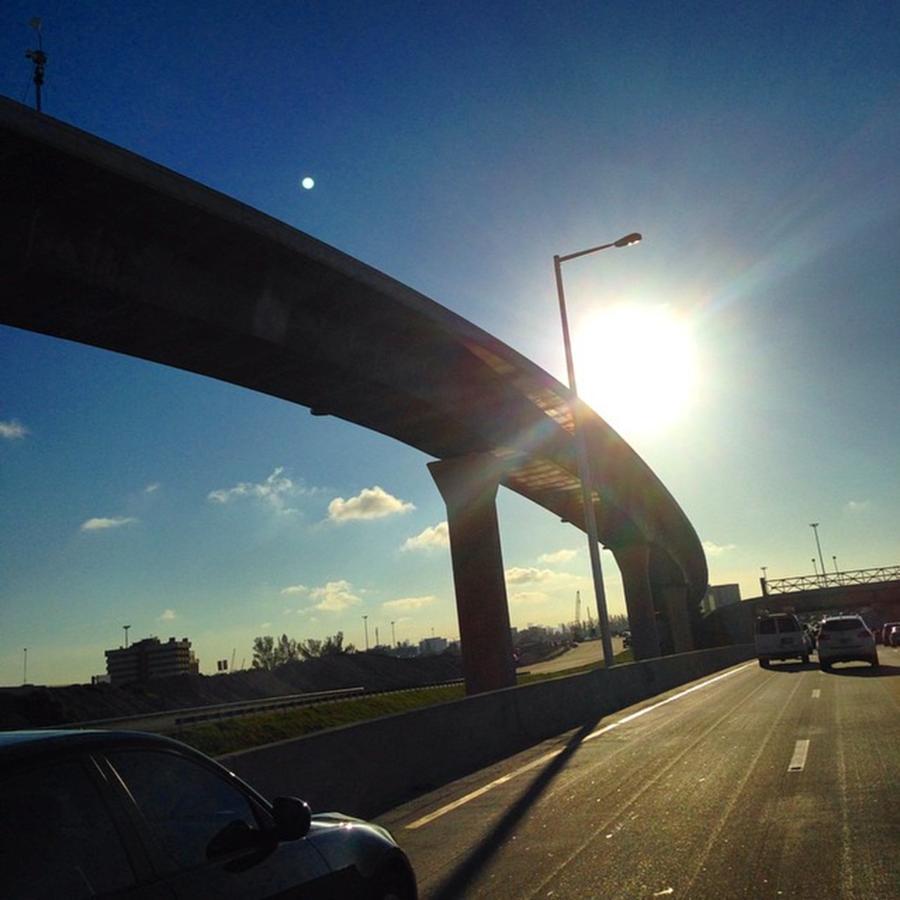 Miami Photograph - Palmetto Expressway, Miami, Fl by Juan Silva