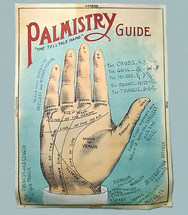 Palmistry Digital Art - Palmistry Guide by Jeff Burgess