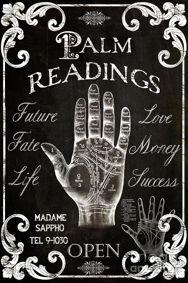 Palmistry Sign Vintage Style by Mindy Sommers