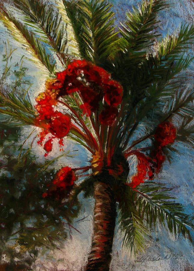 Landscape Pastel - Palms A Glow by Carole Haslock