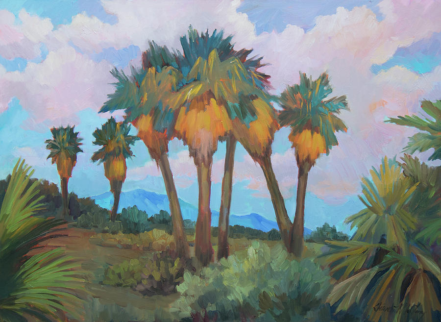 Palms at Anza Borrego State Park by Diane McClary