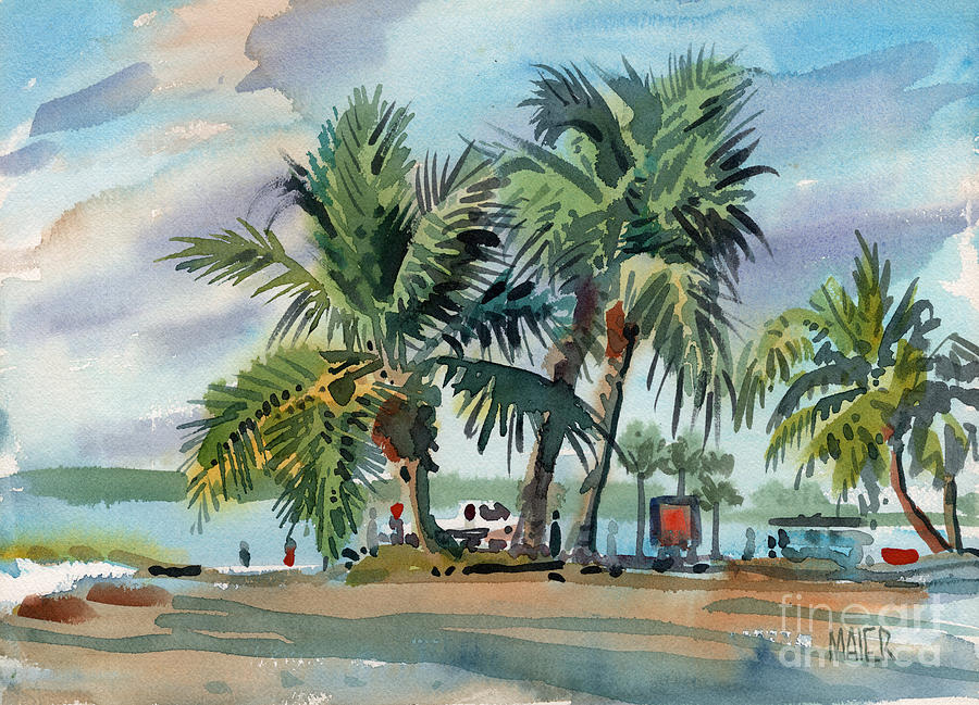 Palms Painting - Palms On Sanibel by Donald Maier
