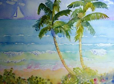Palms Painting by Tufts Davis