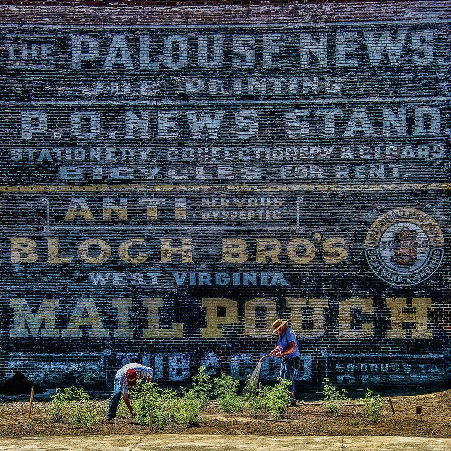 Palouse News Painted Sign On Brick Photograph