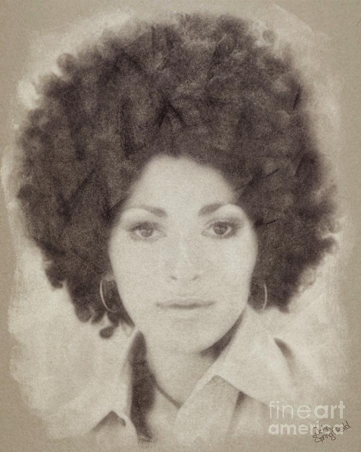 Pam Grier, Vintage Actress Drawing