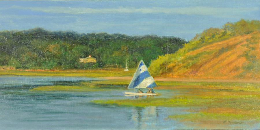 Cape Cod Painting - Pamet Harbor Early Evening by Phyllis Tarlow