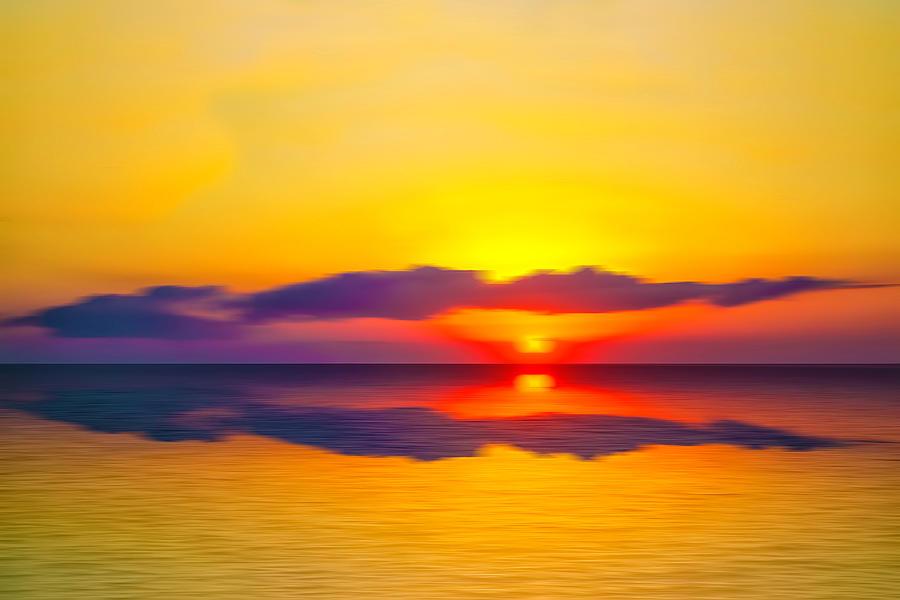 Pamlico Sound Sunset by Jim Dollar