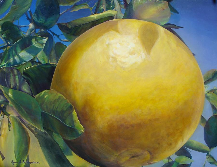 Flower Painting - Pamplemousse by Muriel Dolemieux