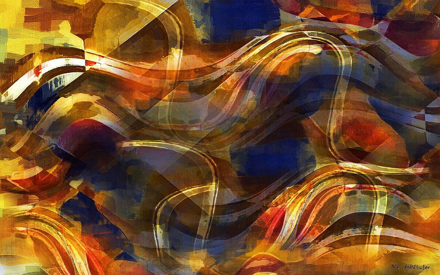 Abstract Painting - Pamplona by RC DeWinter