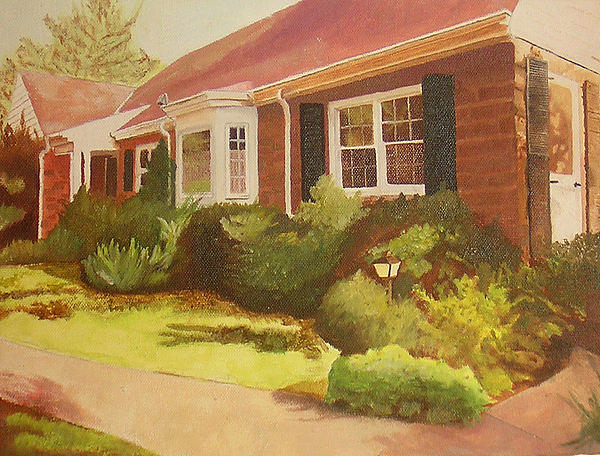 House Painting - Pams House by Sara Allison