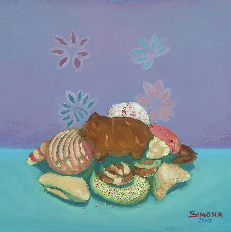 Pan Dulce Painting - Pan Dulce by Simona Hernandez