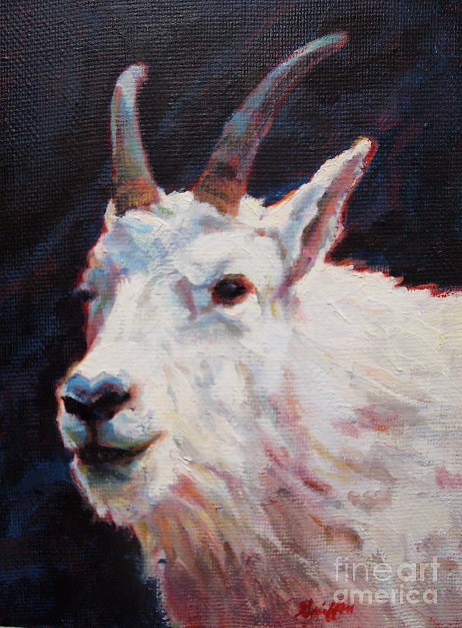 Mountain Goat Painting - PAN by Patricia A Griffin