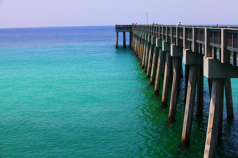 Panama City Photograph - Panama City Beach Pier by Toni Hopper