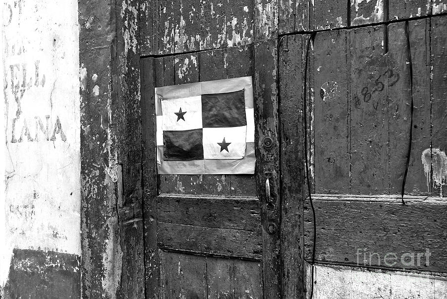 Panamanian Flag Photograph - Panama Pride Mono by John Rizzuto