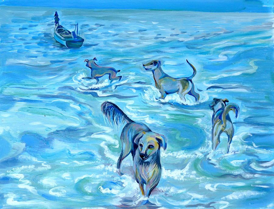 Impression Painting - Panama. Salted Dogs by Anna  Duyunova