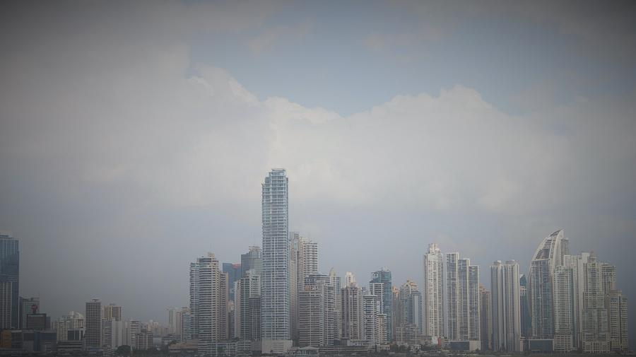 Panama Skyline by Magda Levin-Gutierrez