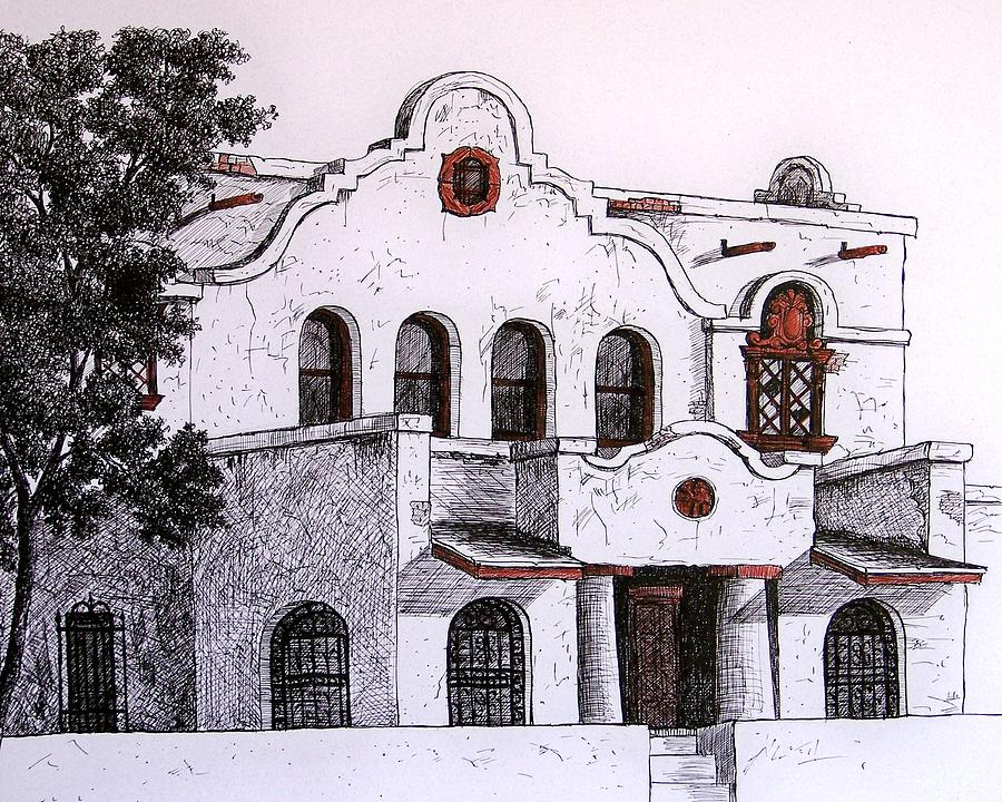 Drawing - Pancho Villa Met Here by Candy Mayer