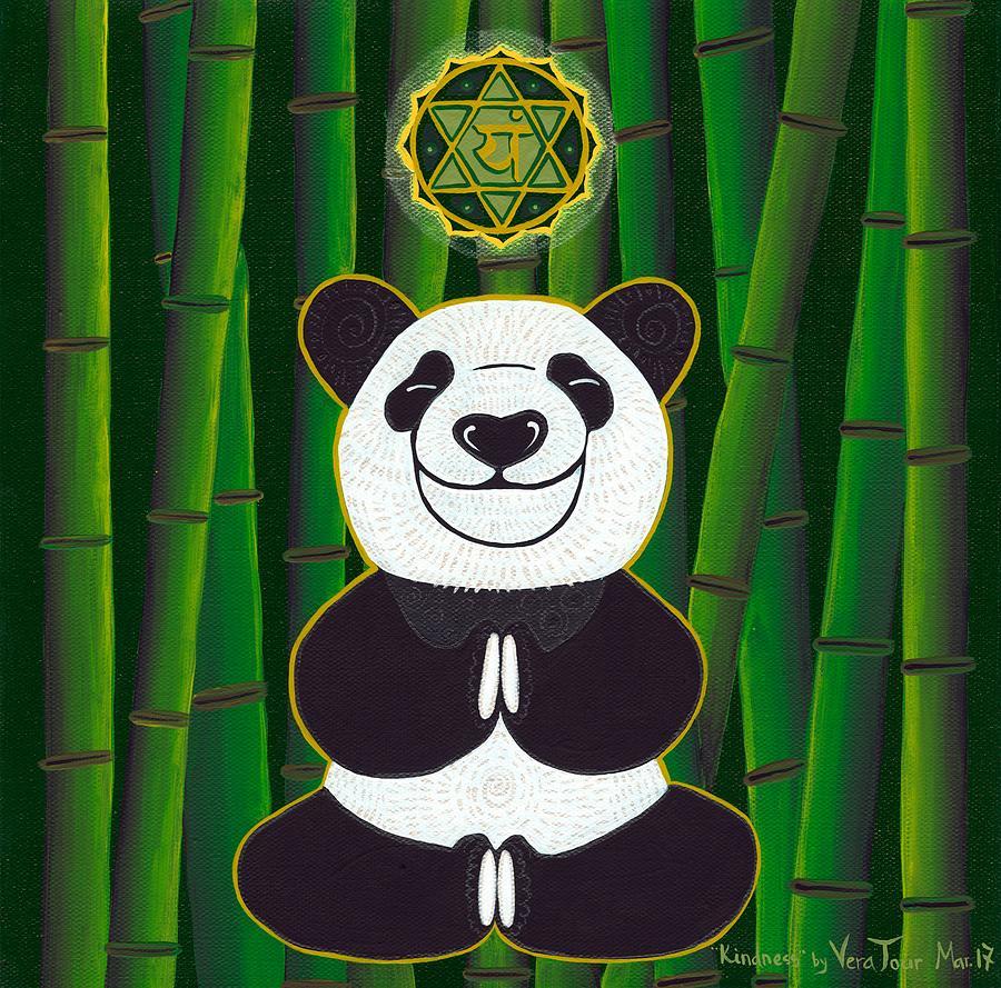 Panda Painting - Panda aka Kindness by Vera Tour