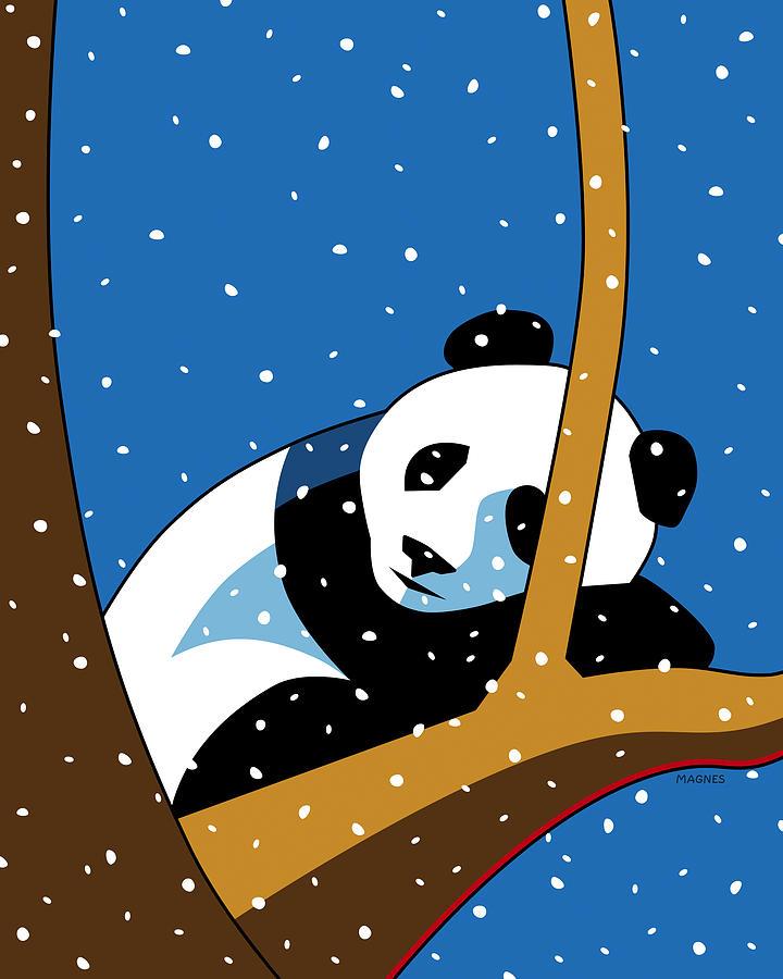 Panda Digital Art - Panda at Peace by Ron Magnes