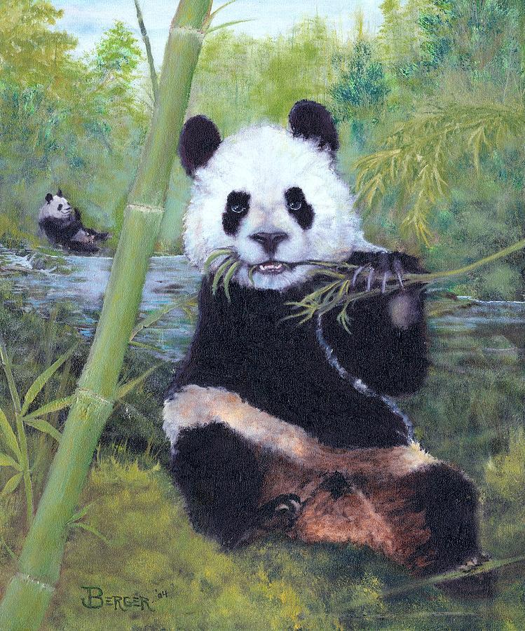 Bamboo Painting - Panda Buffet by James Berger
