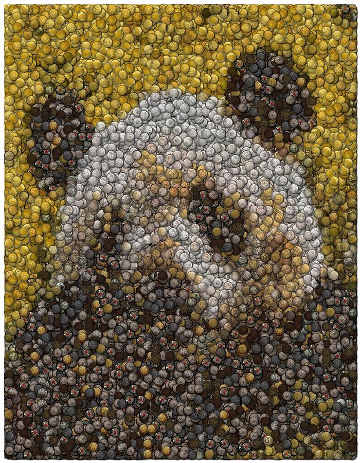 Panda Digital Art - Panda Coin Mosaic by Paul Van Scott