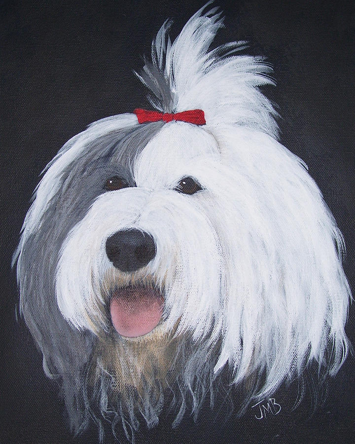 Pet Portrait Painting - Panda by Janice M Booth