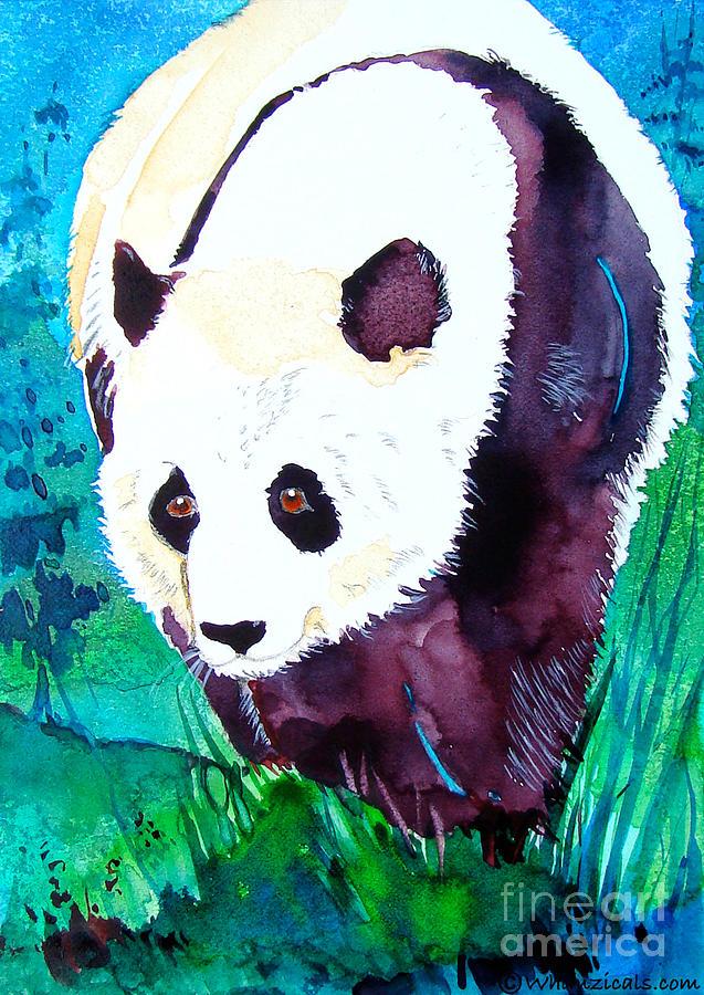 Panda Painting - Panda by Jo Lynch
