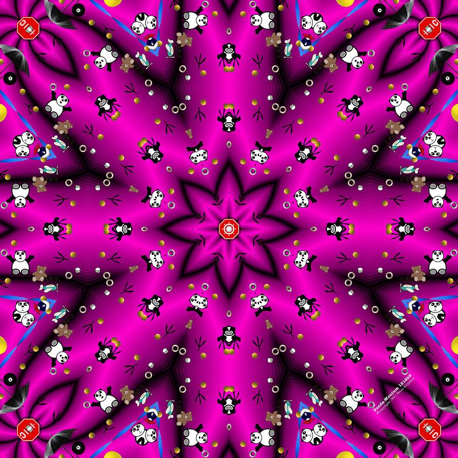 Panda Digital Art - Panda Monium 1218k8 by Brian Gryphon