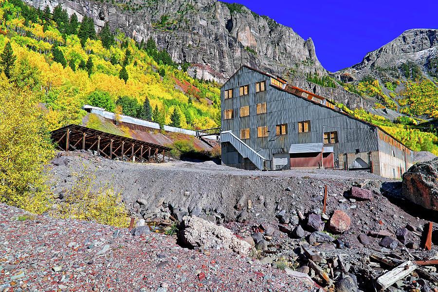 Telluride Photograph - Pandora Mill - Telluride - Colorful Colorado by Jason Politte