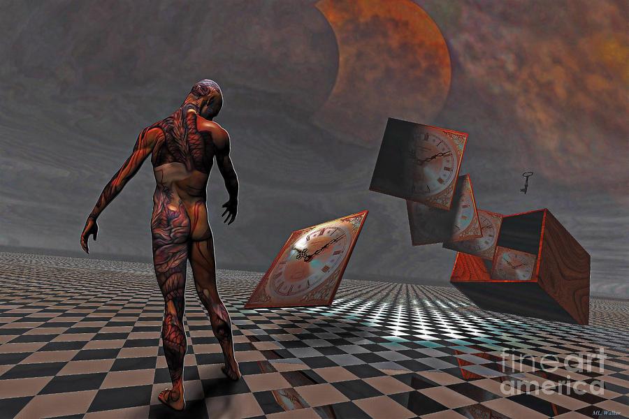 Clocks Mixed Media - Pandoras Boxx by ML Walker