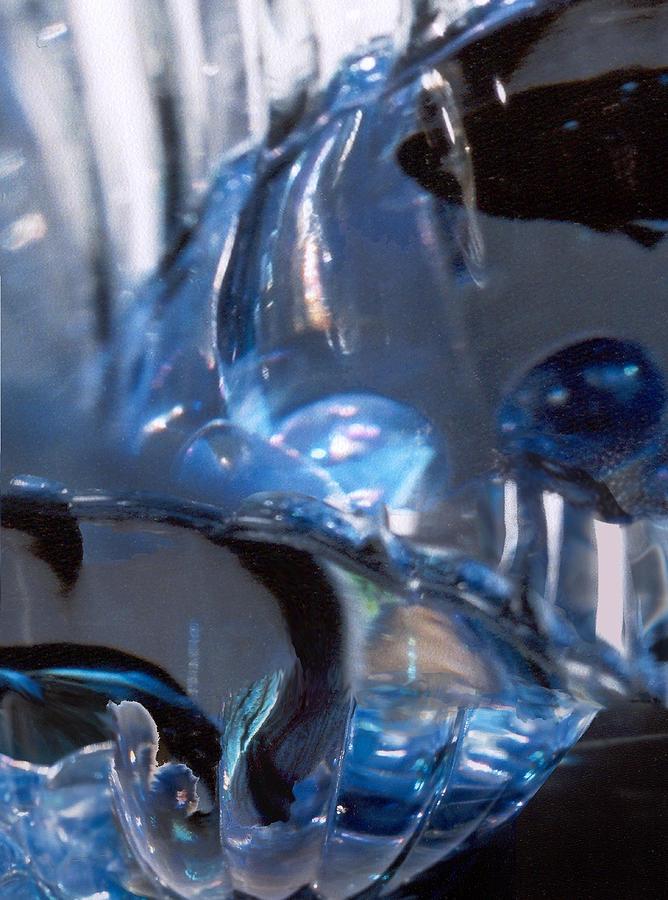Glass Photograph - Panel 2 from Swirl by Steve Karol