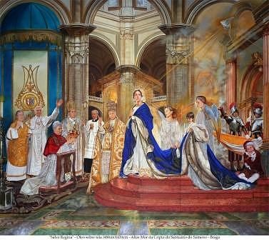 Panel Salve Regina Painting by Oscar Casares