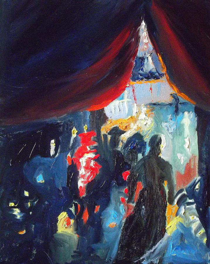 Circus Painting - Panem Et Circenses by Susan  Esbensen