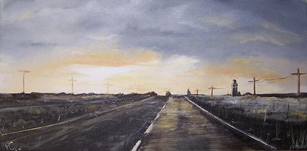 Landscape Painting - Panhandle Icy Sunset by Pat  Corbett