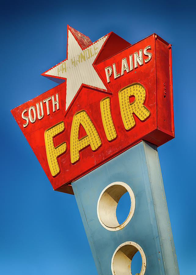 Lubbock Photograph - Panhandle South Plains Fair Sign by Stephen Stookey