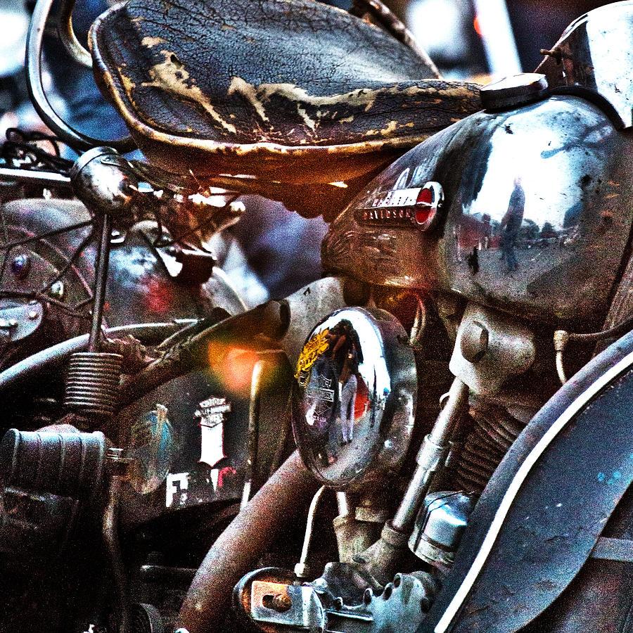 Harley Photograph - Panhead 1 by David Ralph Johnson