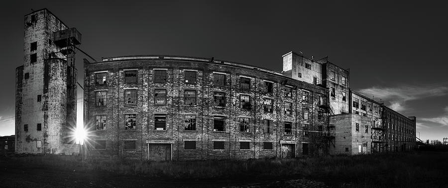 Abandoned Photograph - Pano of the Fort William Starch Company at sunset by Jakub Sisak