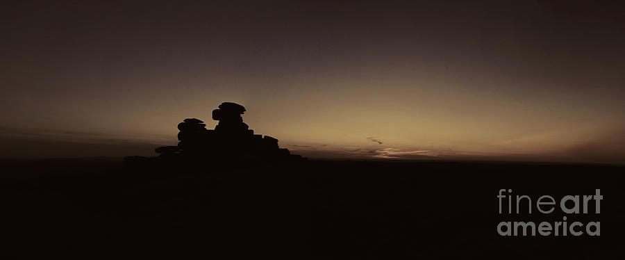 Dartmoor Photograph - Panorama Dartmoor Staple Tor by Sebastien Coell