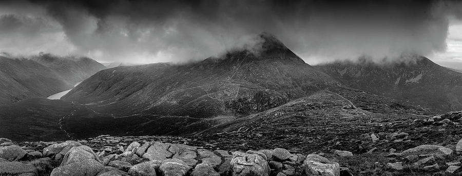 Rock Photograph - Panorama from slievenaglogh by Glen Sumner