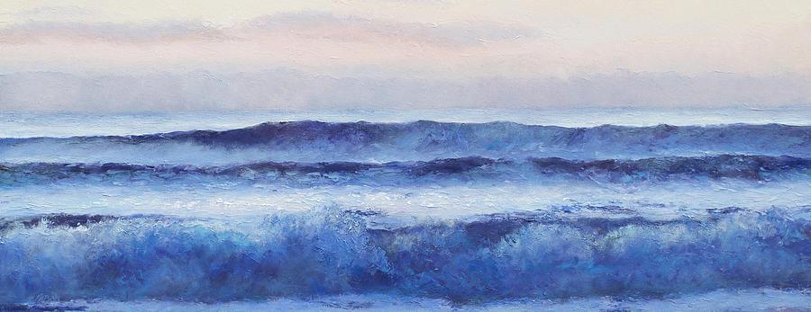 Ocean Painting - Panorama Ocean Painting by Jan Matson