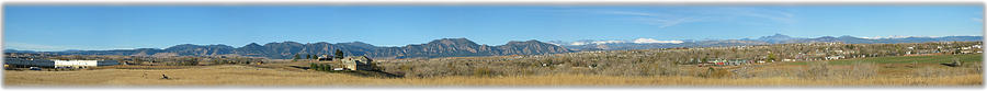 Panorama Photograph - Panorama Of Boulder Colorado Flatiron Mountain Range by Jeff Schomay
