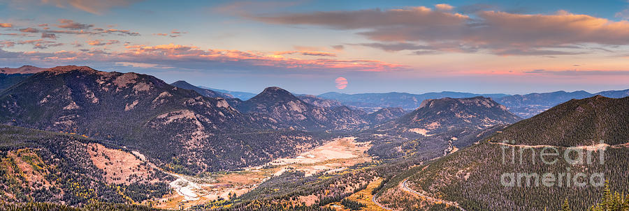 Rocky Photograph - Panorama of Fall River Road from Rainbow Curve Overlook - Rocky Mountain National Park - Estes Park by Silvio Ligutti