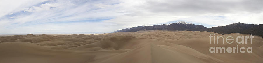 Panorama Of Gread Sand Dunes And Sangre De Cristo Mountains Photograph