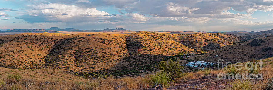 Davis Mountains Photograph - Panorama Of Keesey Canyon And Indian Lodge At Davis Mountains State Park - Fort Davis West Texas by Silvio Ligutti