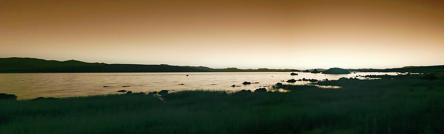 Panorama Of Mono Lake In Infrared Photograph