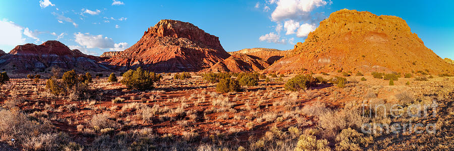 Ghost Photograph - Panorama Of Okeefe Country Near Ghost Ranch - Abiquiu Northern New Mexico by Silvio Ligutti