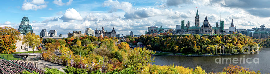 Panorama Of Ottawa Looking Towards Parliament Hill Photograph